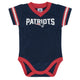 New England Patriots Bodysuit-Gerber Childrenswear Wholesale