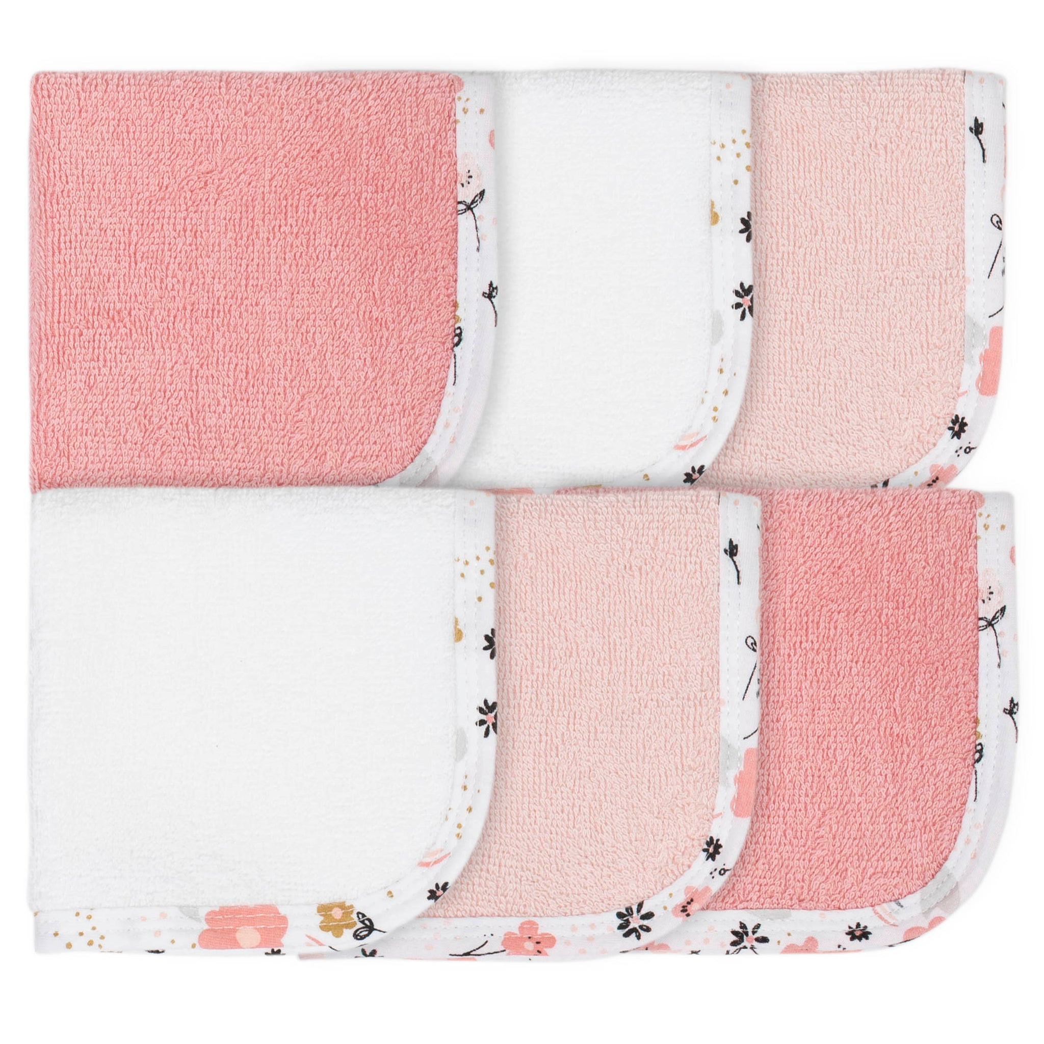 6-Pack Baby Girls Bear Washcloths-Gerber Childrenswear Wholesale