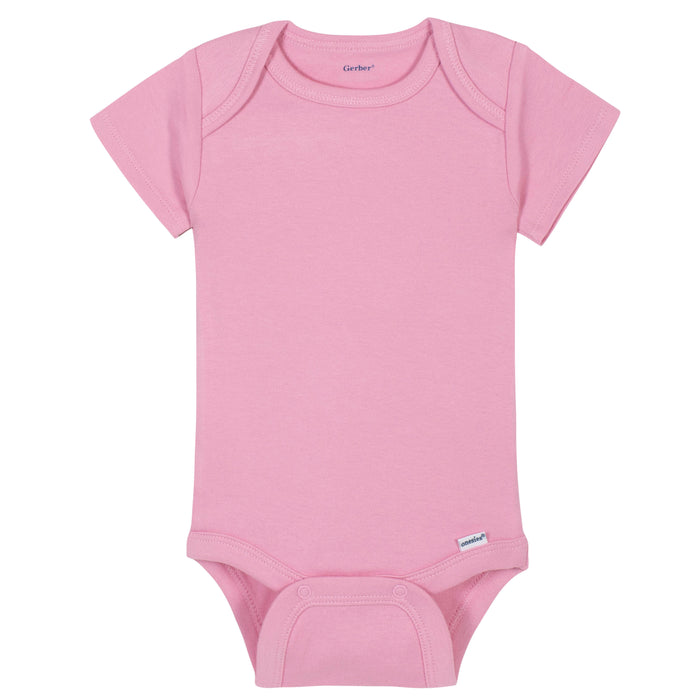Premium Short Sleeve Onesies® Bodysuit in Light Pink-Gerber Childrenswear Wholesale