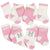 6-Pack Baby Girls Princess Wiggle-Proof Crew Socks-Gerber Childrenswear Wholesale