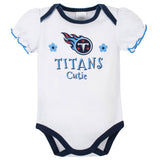 3-Pack Tennessee Titans Short Sleeve Bodysuits-Gerber Childrenswear Wholesale
