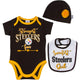 NFL 3-Piece Baby Girls Steelers 3 Piece Set-Gerber Childrenswear Wholesale