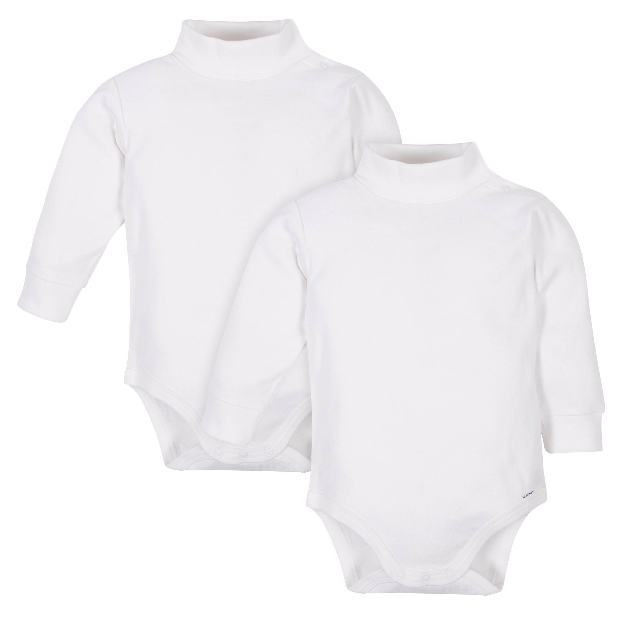 2-Pack Neutral White Long Sleeve Turtlenecks-Gerber Childrenswear Wholesale