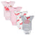 4-Pack Baby Girls Crab Onesies® Bodysuits-Gerber Childrenswear Wholesale