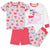 4-Piece Girls Whale Cotton Pajamas-Gerber Childrenswear Wholesale