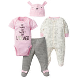 4-Piece Baby Girls Bunny Take Me Home Set-Gerber Childrenswear Wholesale