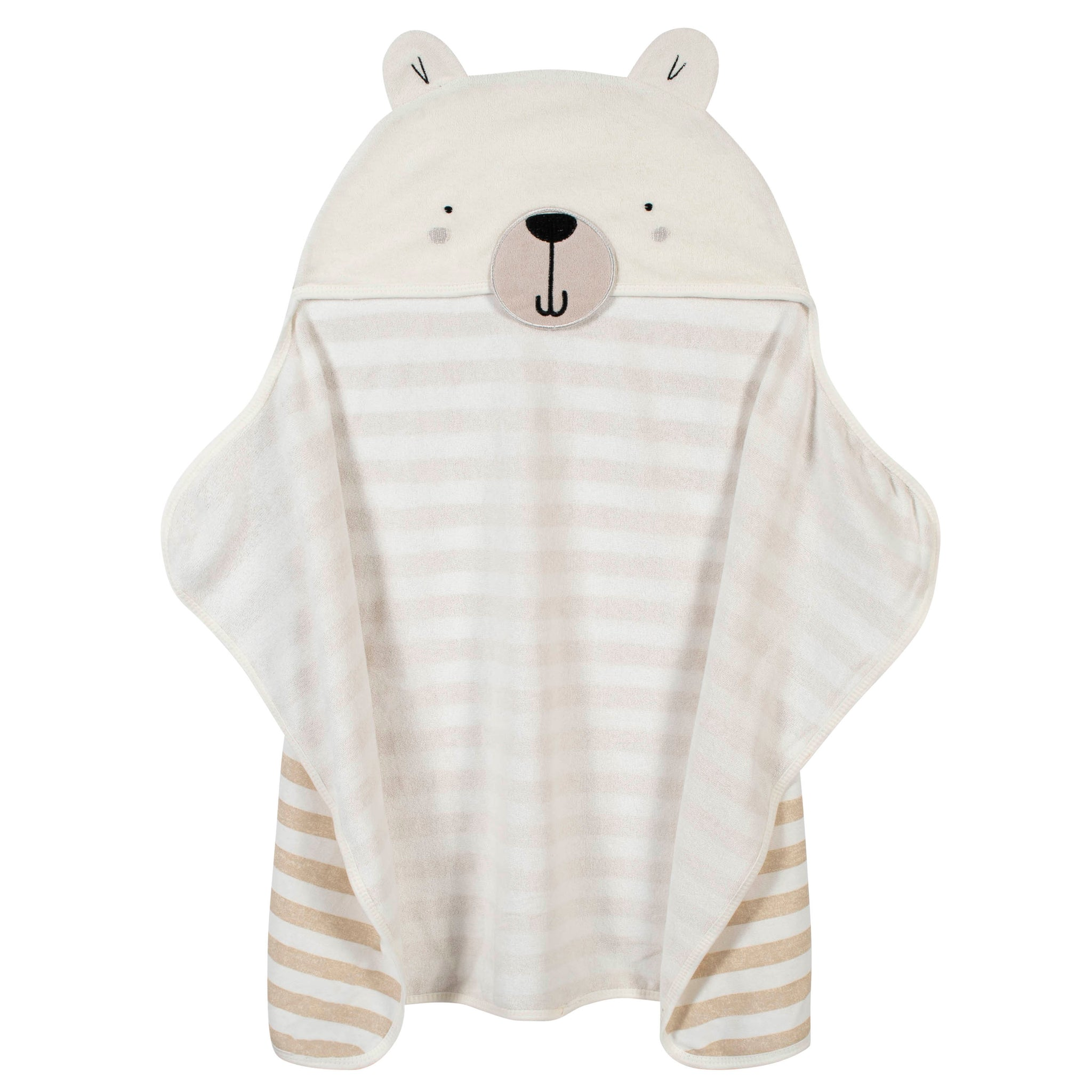 Organic Baby Boys Bear Hooded Bath Wrap-Gerber Childrenswear Wholesale