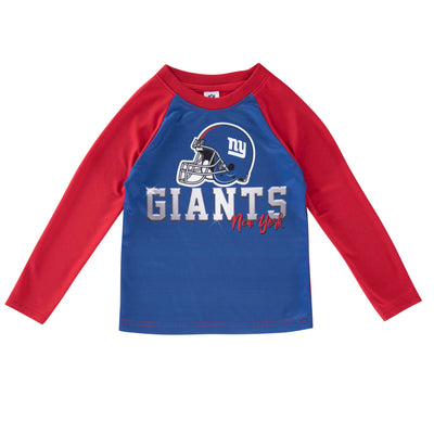 New York Giants Toddler Boys Long Sleeve Tee-Gerber Childrenswear Wholesale