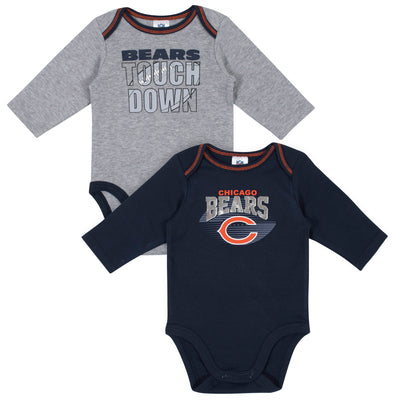 2-Pack Chicago Bears Long Sleeve Bodysuits-Gerber Childrenswear Wholesale