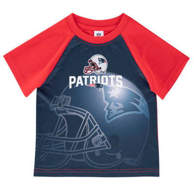 New England Patriots Toddler Boys Short Sleeve Tee Shirt-Gerber Childrenswear Wholesale
