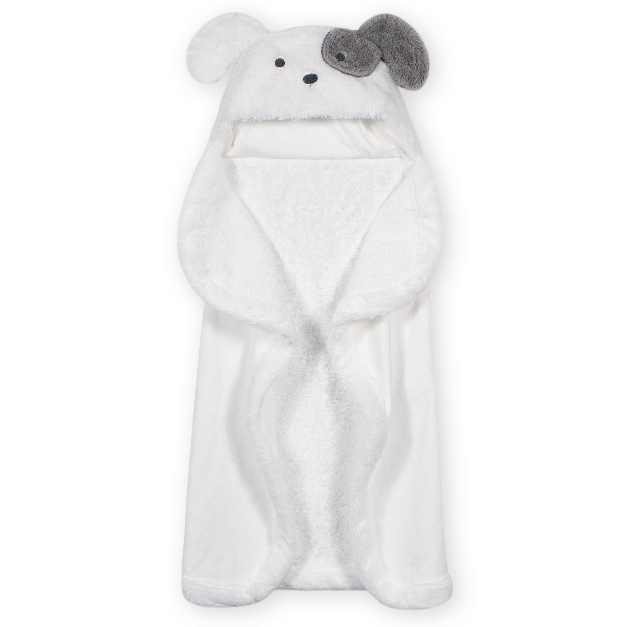 Baby Neutral Puppy Cuddle Plush Hooded Towel-Gerber Childrenswear Wholesale