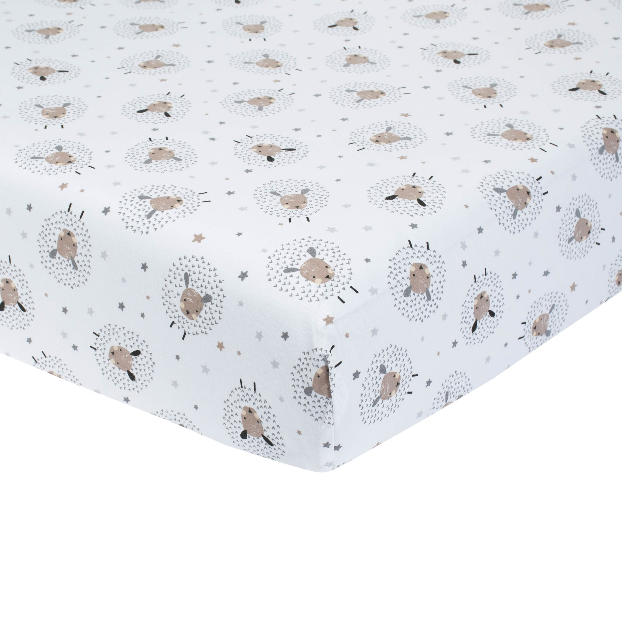 Baby Neutral Counting Sheep Fitted Crib Sheet-Gerber Childrenswear Wholesale