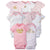 8-Pack Baby Girls Castle Short Sleeve Onesies® Bodysuits-Gerber Childrenswear Wholesale