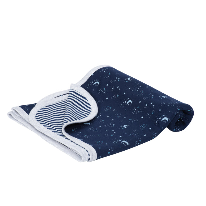 Just Born® Baby Boys Space Organic Swaddle Blanket-Gerber Childrenswear Wholesale