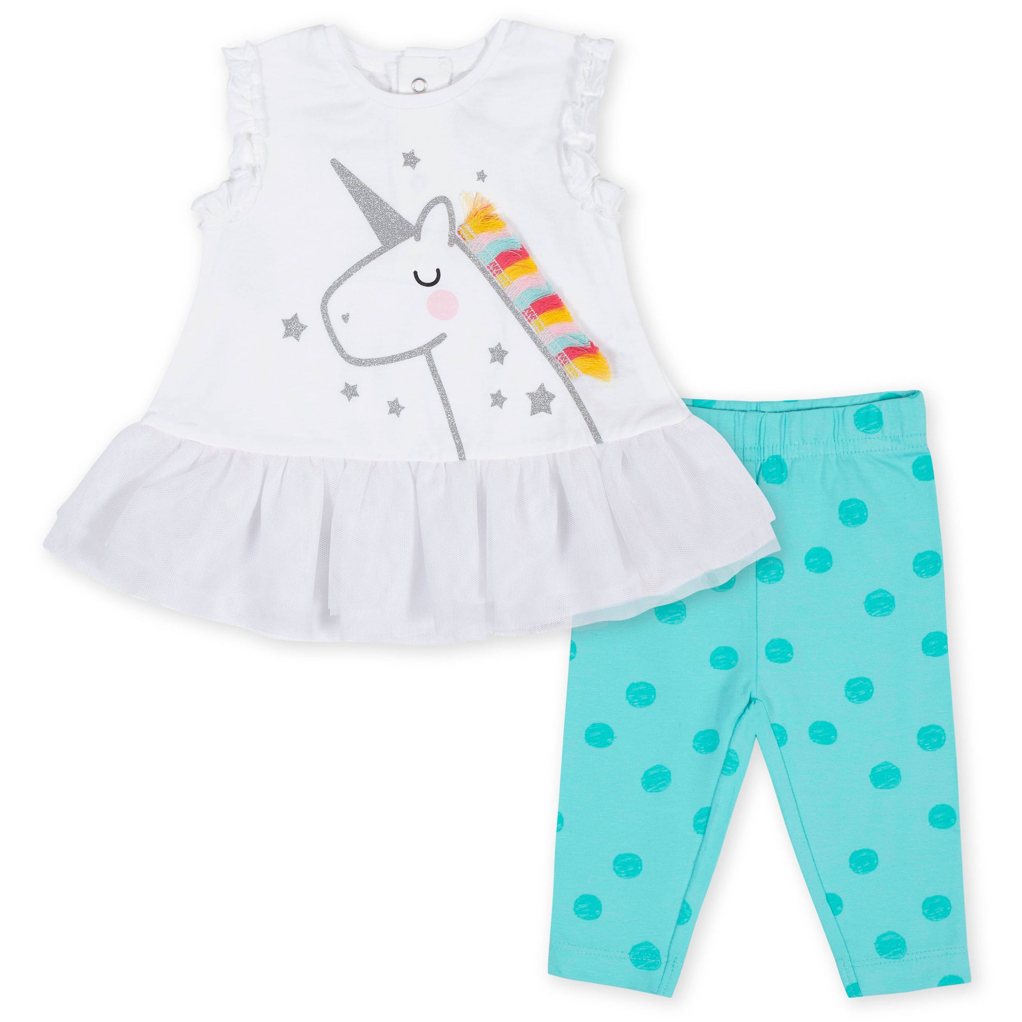 2-Piece Baby Girls Unicorn Tunic Set-Gerber Childrenswear Wholesale
