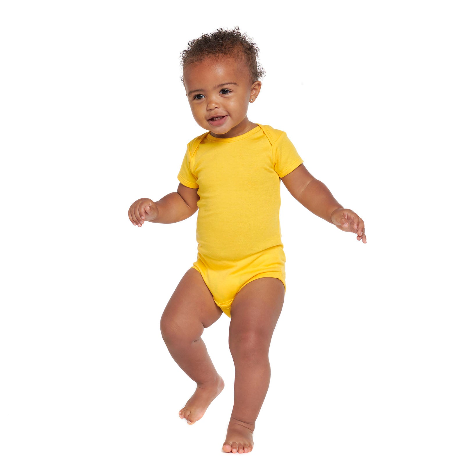 Short Sleeve Yellow Onesies® Bodysuit-Gerber Childrenswear Wholesale