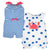 2-Pack Baby Girls Crab Rompers-Gerber Childrenswear Wholesale