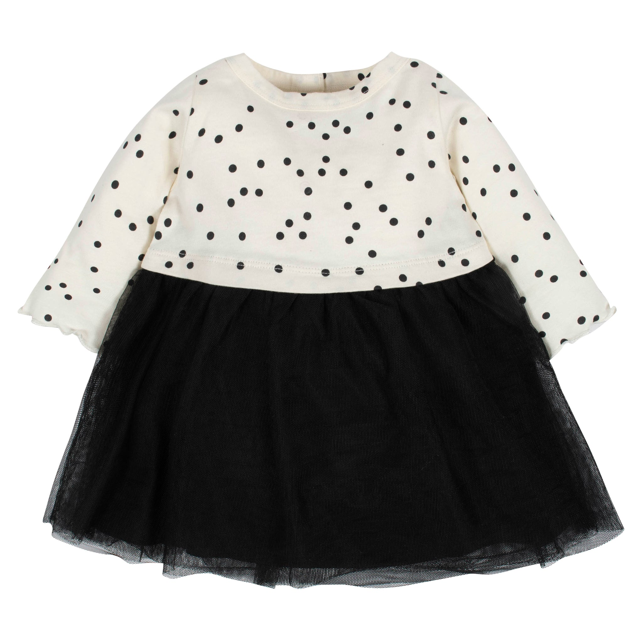 Baby Girls Dotted Tulle Dress-Gerber Childrenswear Wholesale