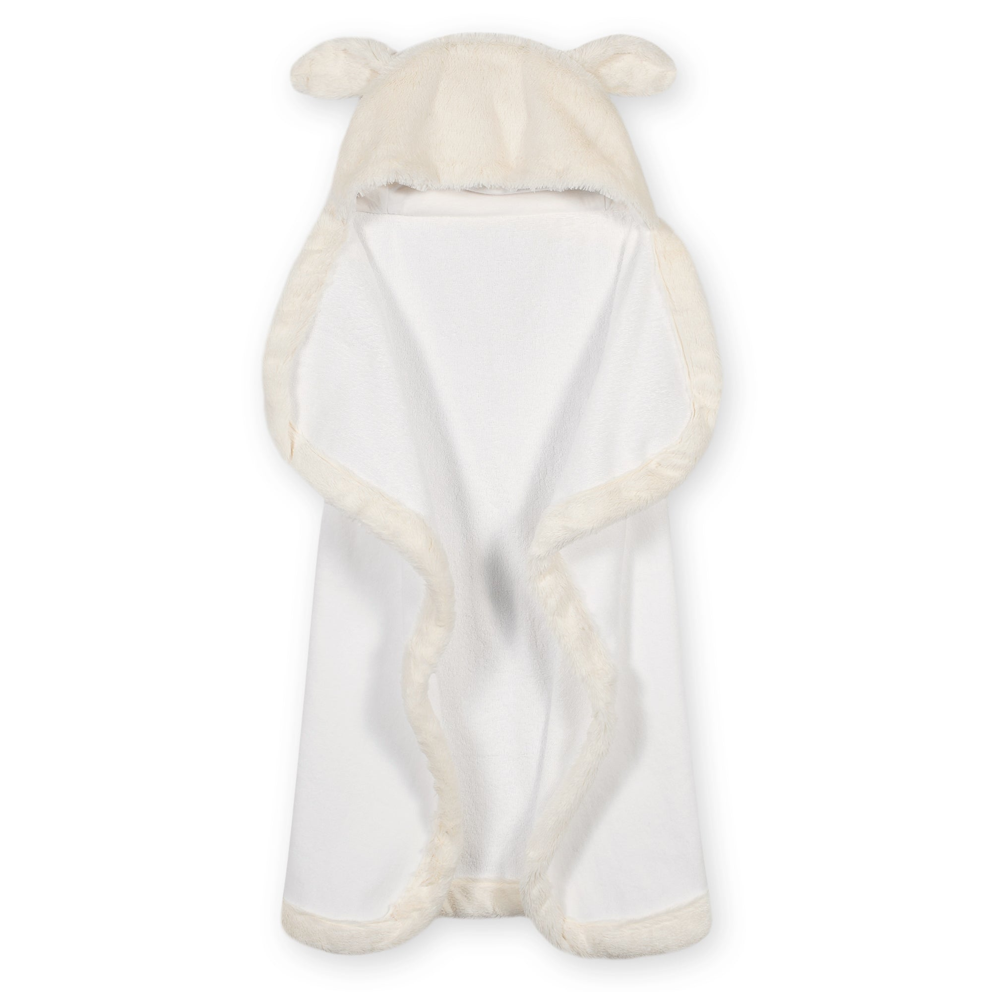 Baby Neutral Lamb Cuddle Plush Hooded Towel-Gerber Childrenswear Wholesale