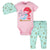 3-Piece Baby Girls Mermaid Bodysuit, Pant, and Cap Set-Gerber Childrenswear Wholesale