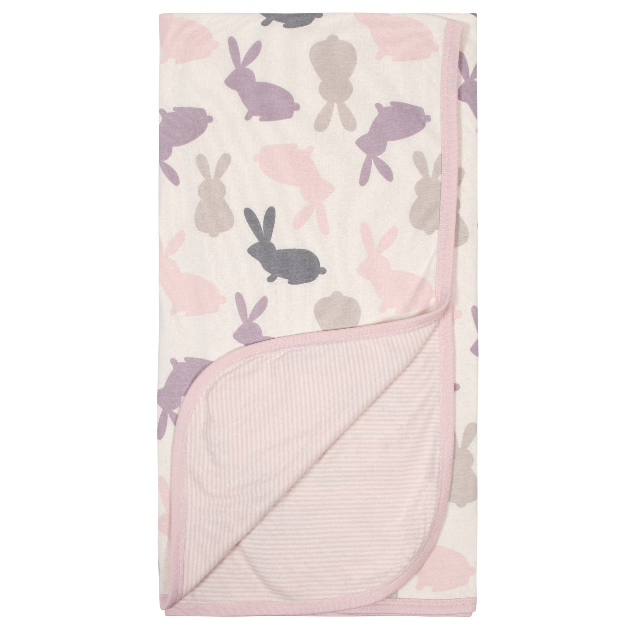 Baby Girls Bunny Reversible Blanket-Gerber Childrenswear Wholesale