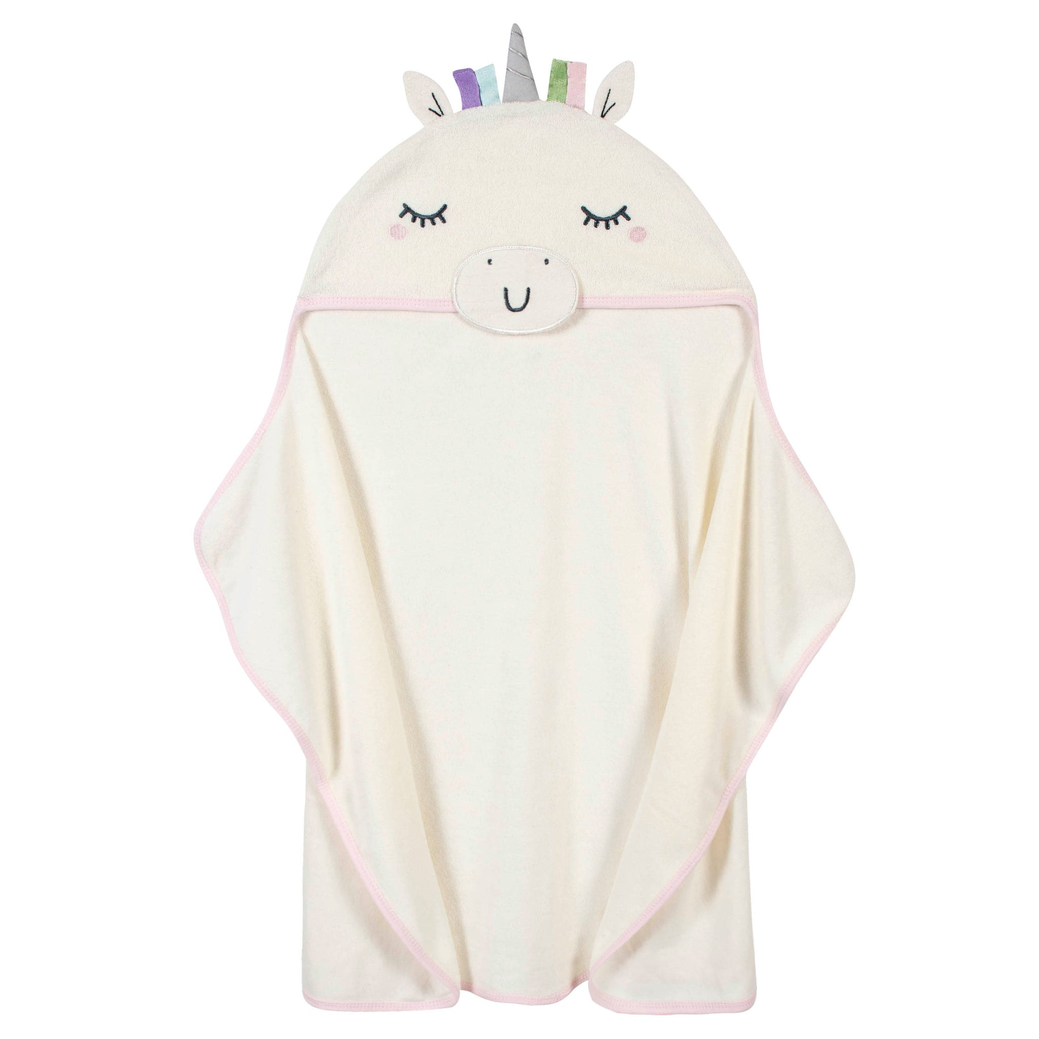 Organic Baby Girls Unicorn Hooded Bath Wrap-Gerber Childrenswear Wholesale