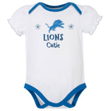 3-Pack Detroit Lions Short Sleeve Bodysuits-Gerber Childrenswear Wholesale