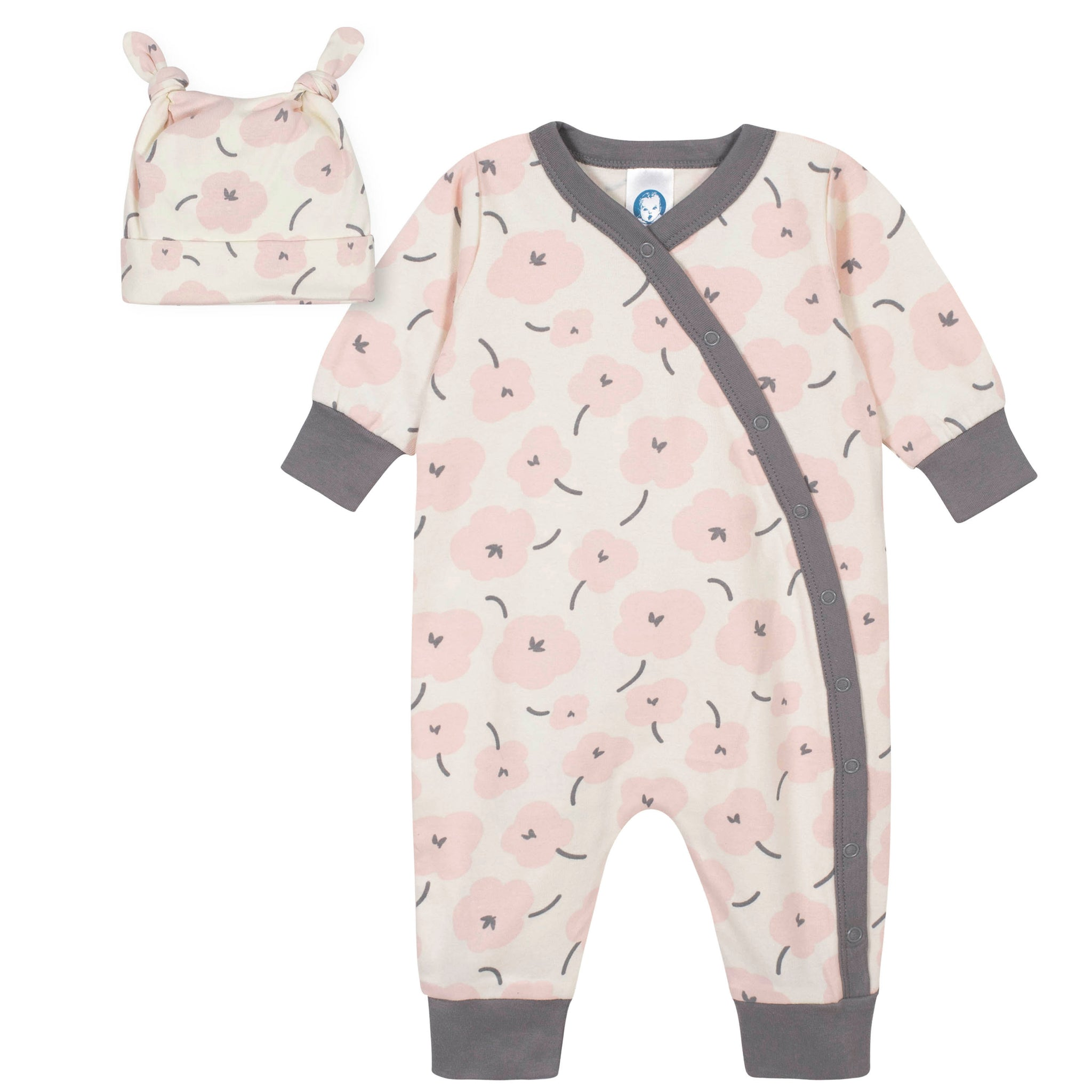 2-Piece Baby Girls Bunny Coverall and Cap Set-Gerber Childrenswear Wholesale