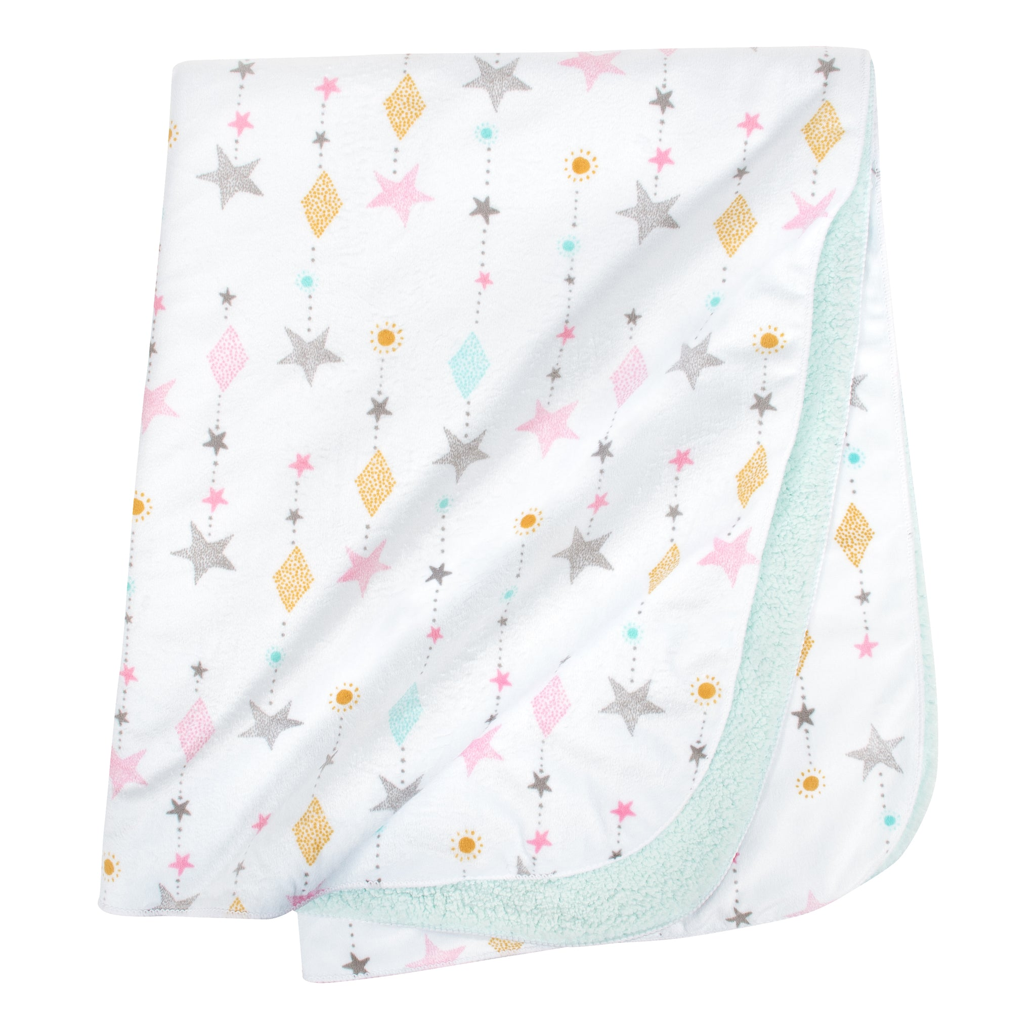 Baby Girls Love and Sugar Plush Blanket-Gerber Childrenswear Wholesale
