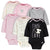 6-Pack Baby Girls Bunny Long Sleeve Onesies® Bodysuits-Gerber Childrenswear Wholesale