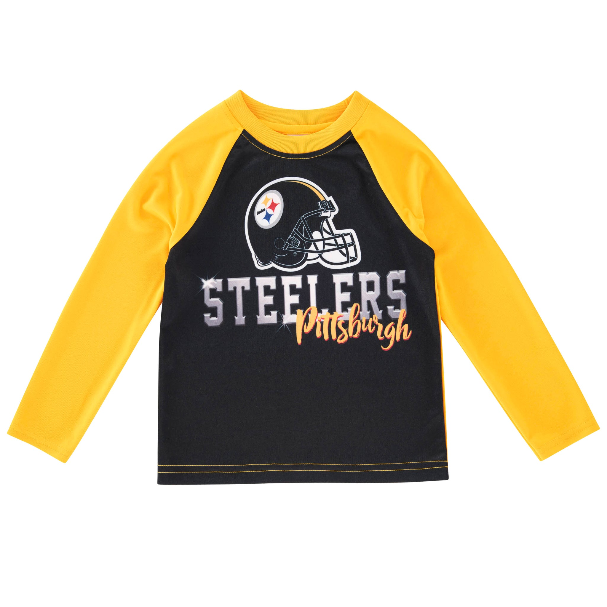 Toddler Boys Pittsburgh Steelers Long Sleeve Tee Shirt-Gerber Childrenswear Wholesale