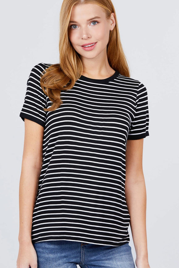 Stripe Ringer Knit Top