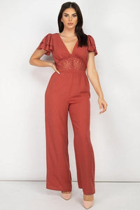 Crochet Fall Jumpsuit - MiaStylez