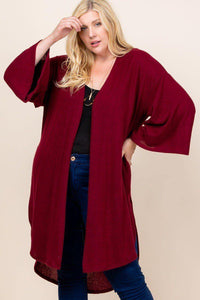 Hacci Open Cardigan With Bell Sleeves - MiaStylez