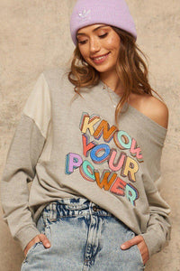 French Terry Graphic Sweatshirt - MiaStylez