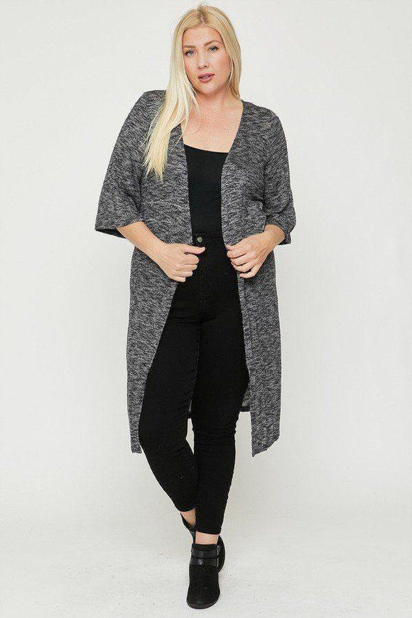 Two Tone Knit Cardigan