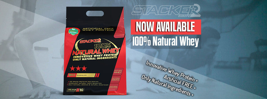 100% Natural Whey - Stacker 2 • 1500 gram (50 servings) • Eiwit & Proteine shakes