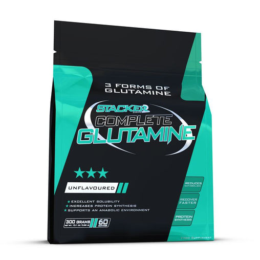 Complete Glutamine  - Stacker 2 • 300 gram (60 servings) • Aminozuren & Herstel - product packshot