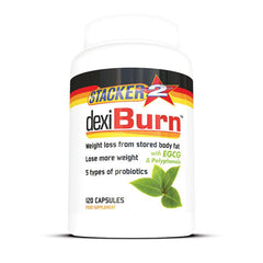 Dexi Burn (USA Import) - Stacker 2 • 120 capsules  (120 servings) • Afslanken & Probiotica - product shot verpakking