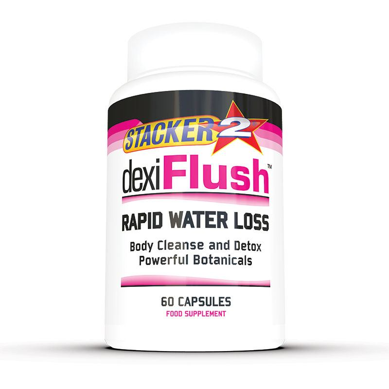 Dexi Flush (USA Import) - Stacker 2 • 60 capsules (30 servings) • Detox & Vochtafdrijver - product shot verpakking