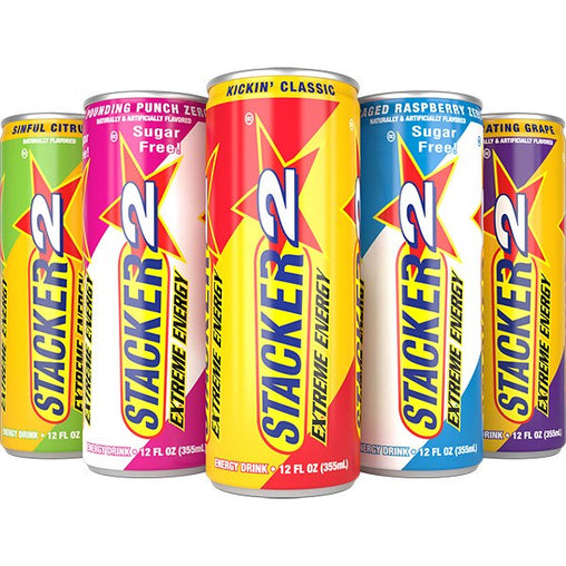 Extreme Energy sugar free (USA Import) - Stacker 2 • 1 - 12 blikjes  (355 ml per blikje) • Energie Boost & Focus