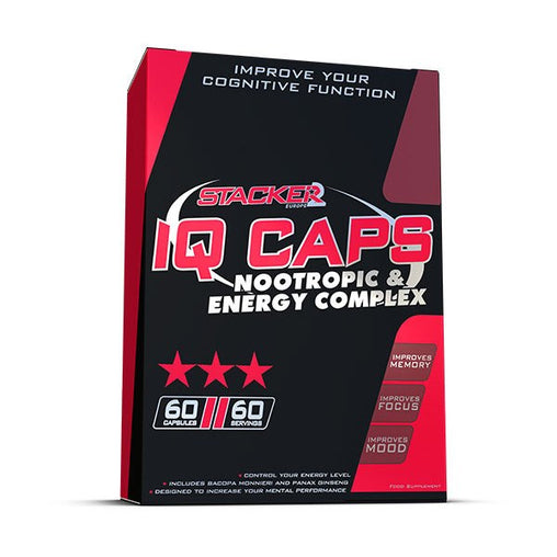 IQ Caps - Stacker 2 • 60 capsules (60 servings) • Gezondheid & Mentale Prestaties - product packshot