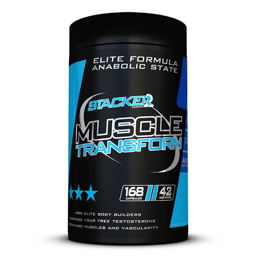 Muscle Transform Ephedra Vrij - Stacker 2 • 168 capsules (42 servings) • Testosteron Verhogen met Testo booster