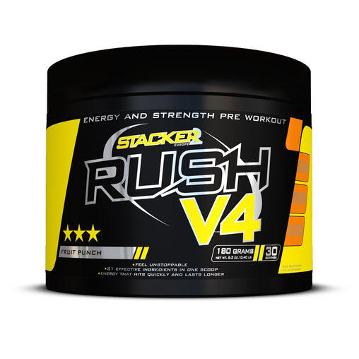 Rush V4 - Stacker 2 • 180 gram (30 servings) • Pre-workout / Training - Fruit Punch