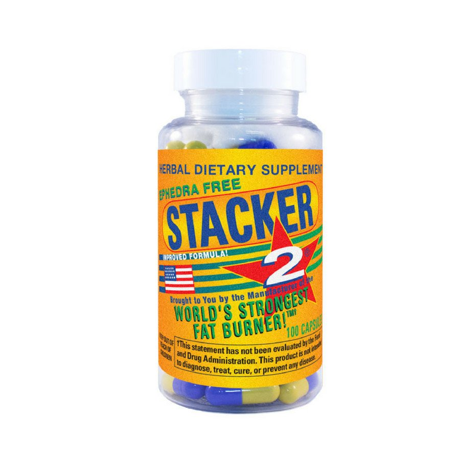 Stacker-2 (USA Import) Ephedra Vrij - Stacker 2 • 100 capsules  (100 servings) • Afslanken & Vetverbranden - product packshot