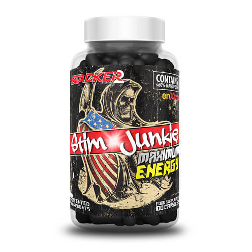 Stim Junkie (USA Import) Ephedra Vrij - Stacker 2 • 100 capsules  (33 - 100 servings) • Energie & Focus