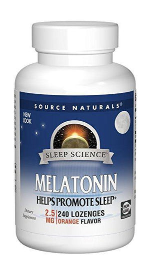 Source Naturals Melatonina Sublingual 2.5mg Orange 240 Tablets - NutriVita