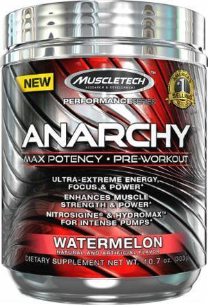 Muscle Tech - Anarchy Pre-Treino 30 Doses - NutriVita