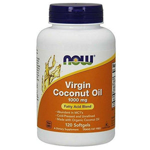 NOW Virgin Coconut Oil 1000 mg,120 Softgels - NutriVita
