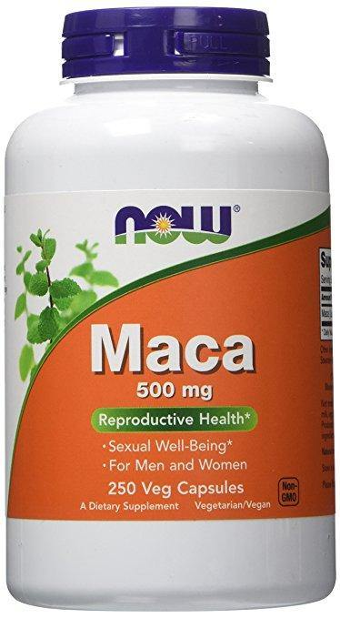 NOW Maca 500mg, 250 Veg Capsulas